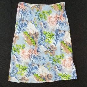 Guess jeans Hawaiian tropical skirt